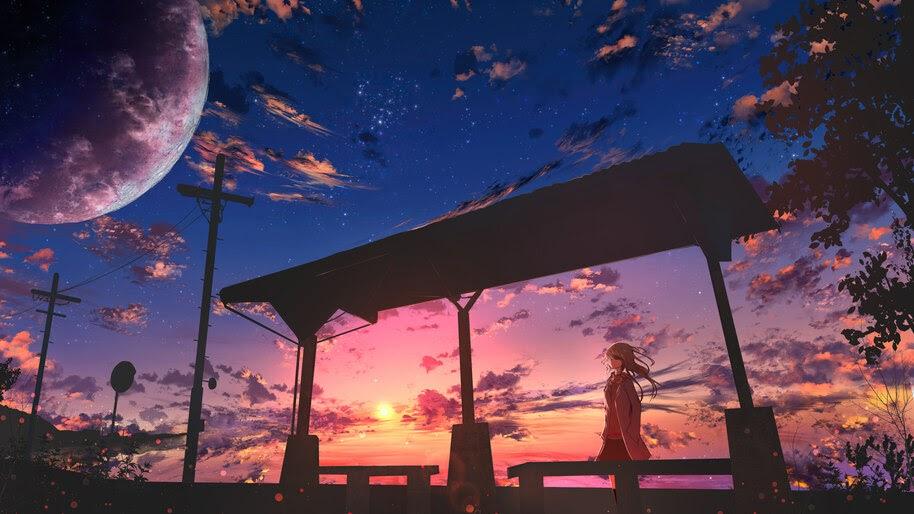 Anime Scenery Sunset 4k Wallpaper 4 2454