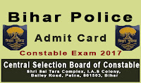csbc.bih.nic.in admit card 2017 - Bihar Police Constable Admit  Card downlaod