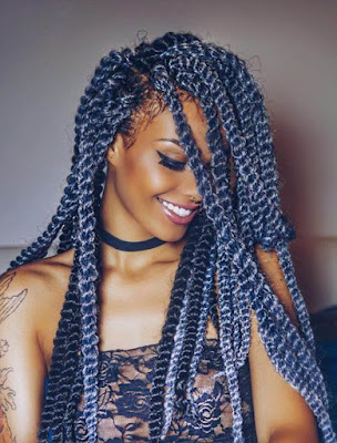 trenzas africanas de moda azules tumblr