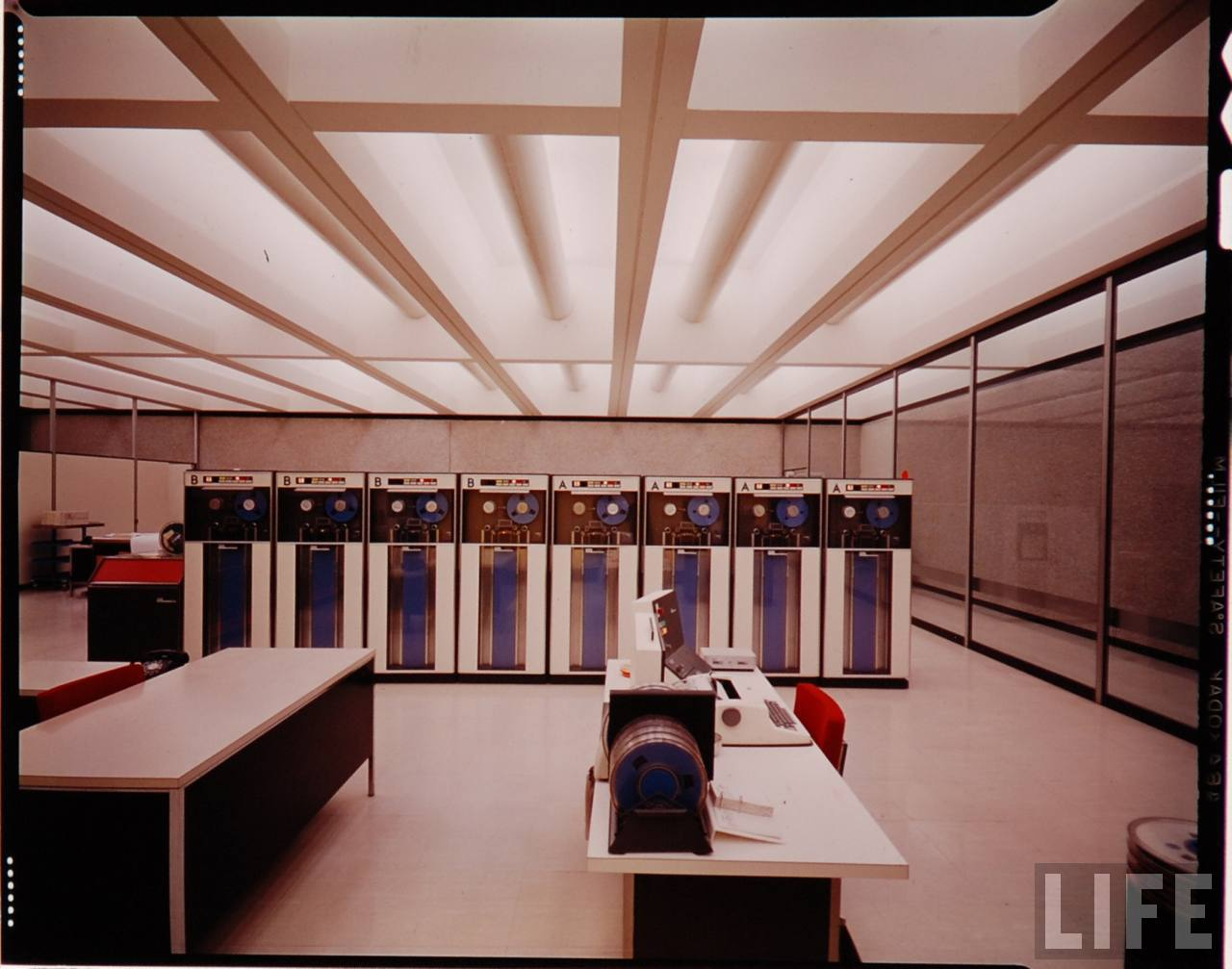 Mad Men Working at the Mid Century Modern Office Color