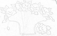 """""""risco cesta com rosas"""""""