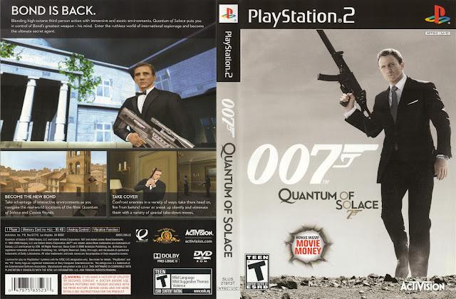 Capa PS2 007 Quantum of Solace