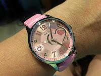 Pink Women's Leather Analog Quartz Watch Campaign #Aposon