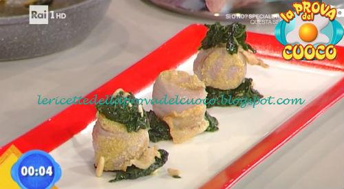 Bocconcini di tacchino al lardo con cavolo nero ricetta Marco Parizzi da Prova del Cuoco