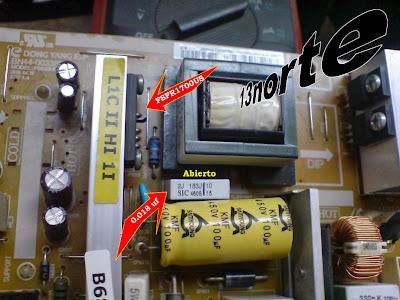 Fuente principal Samsung LN32C450E1V