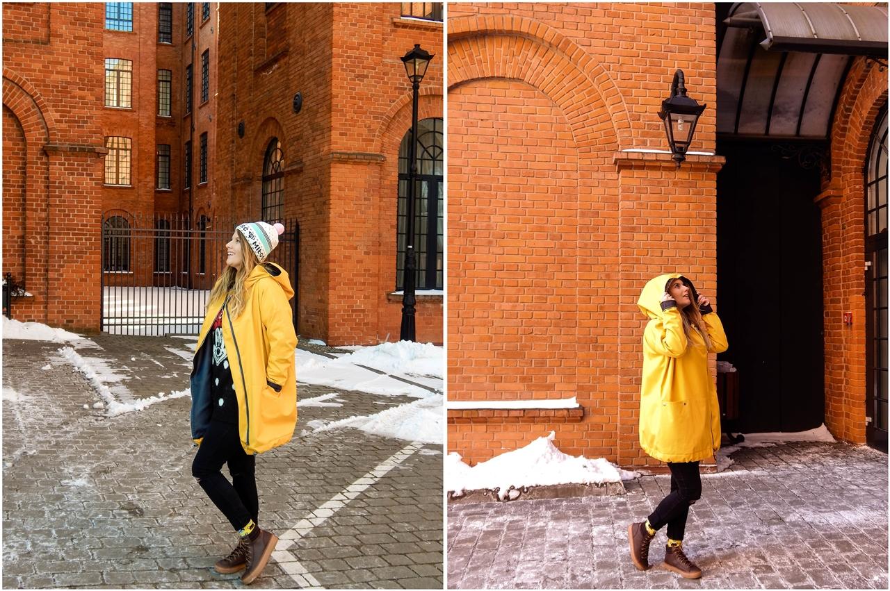 12 obszerny szeroki płaszcz oversize z ogromnym dużym kapturem polska moda marka agagu stylowe kurtki na wiosnę płaszcze