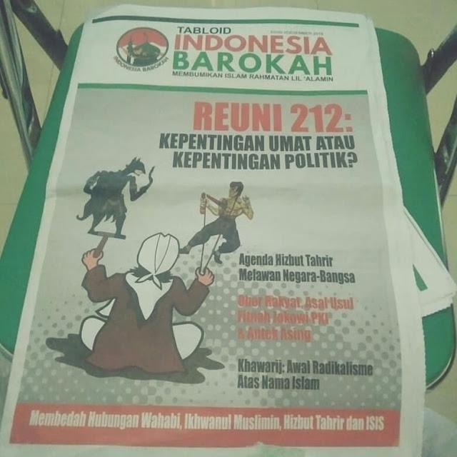 Beredar Tabloid Indonesia Barokah yang Berisi Menjelek-jelekkan Prabowo-Sandi