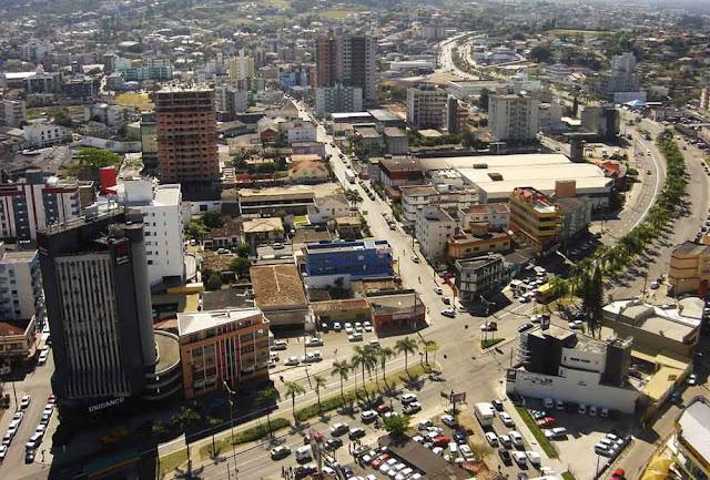 Imagem aérea de Criciúma
