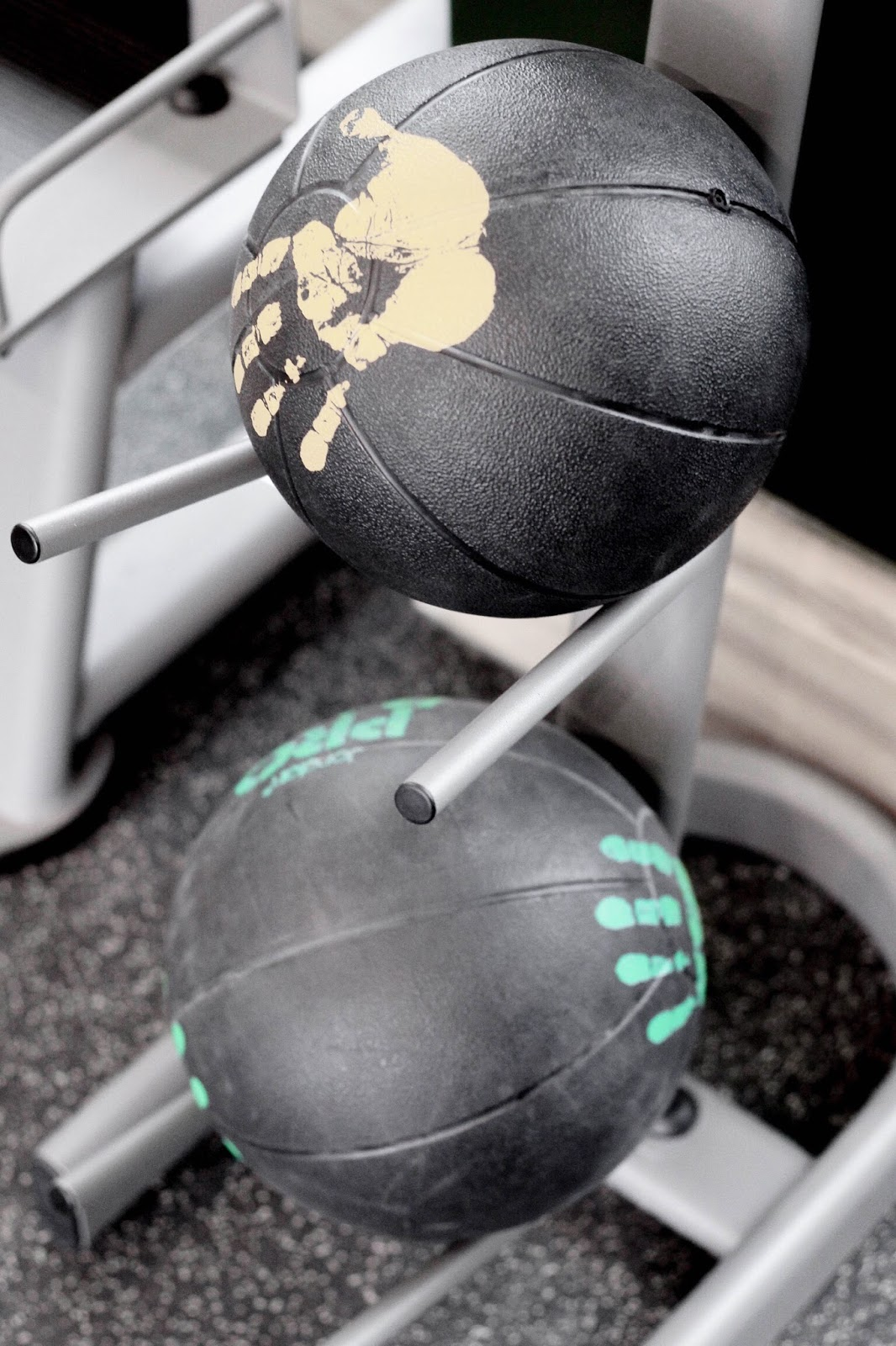 Medicine Ball Stack at Hotel Gym