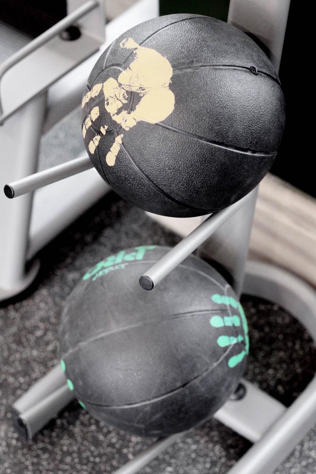 Medicine Ball Stack at Hotel Gym