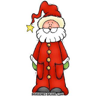 Dibujo del Viejo Pascuero muy bonito. Ilustración de Papá Noel. Santa Claus