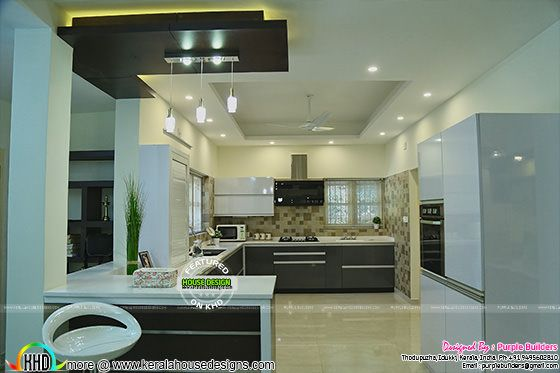 Open Kitchen furnished in Kerala