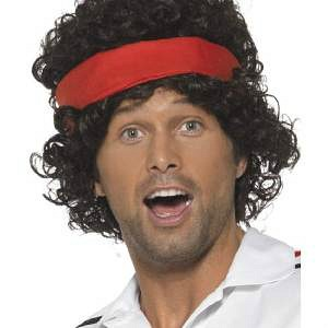 80s Tennis Player Wig and Headband
