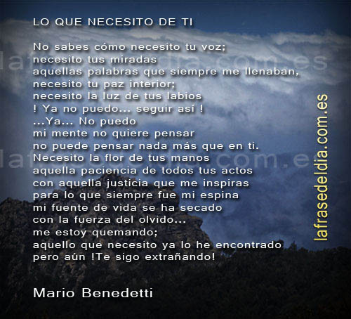 Poemas de amor Mario Benedetti