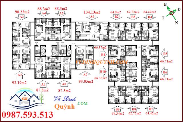Mặt bằng chung cư 122 Vĩnh Tuy