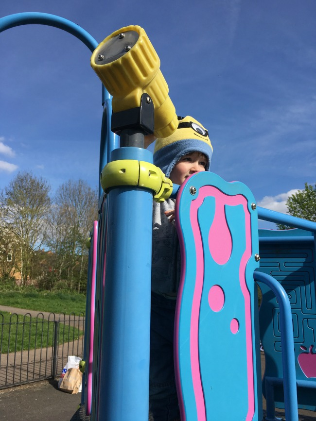 Our-Weekly-Journal-Grandad's-New-Hip-toddler-on-play-equipment-at-park