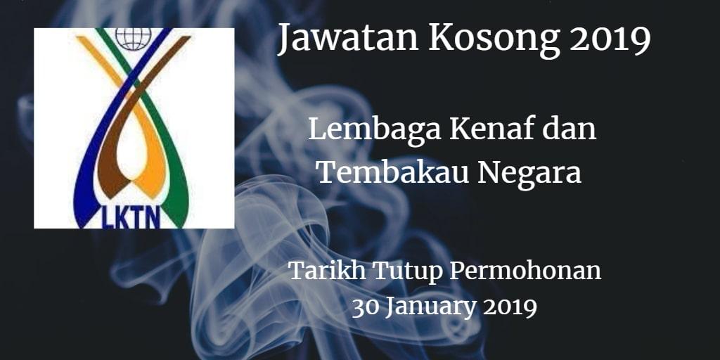 Jawatan Kosong LKTN 30 January 2019