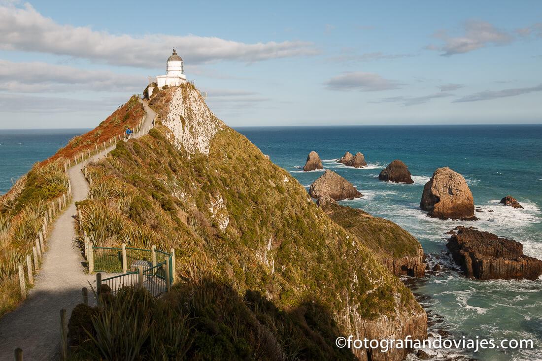 Tokata lighthouse en Nugget Point Nueva Zelanda