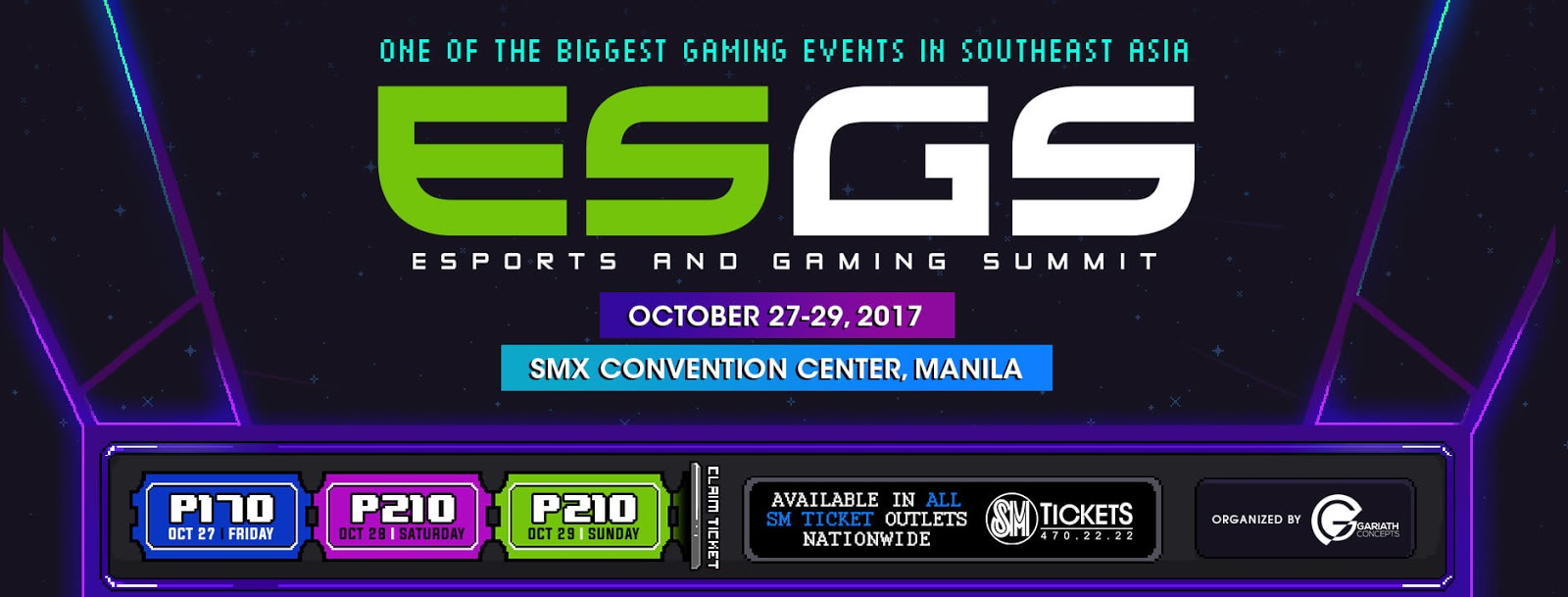 ESGS 2017 Is Set to Bring the Best Gaming Experience in PH on October 27 to 29 at MOA SMX Convention Center
