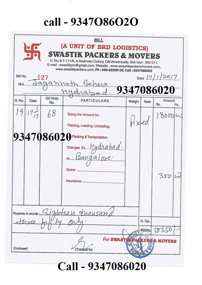 packers and movers bill hyderabad