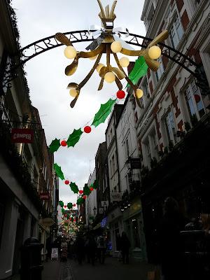 Londres Carnaby Street à Noël