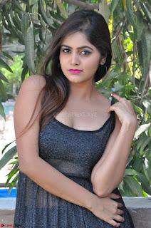 Pragya Nayan New Fresh Telugu Actress Stunning Transparent Black Deep neck Dress ~  Exclusive Galleries 036.jpg