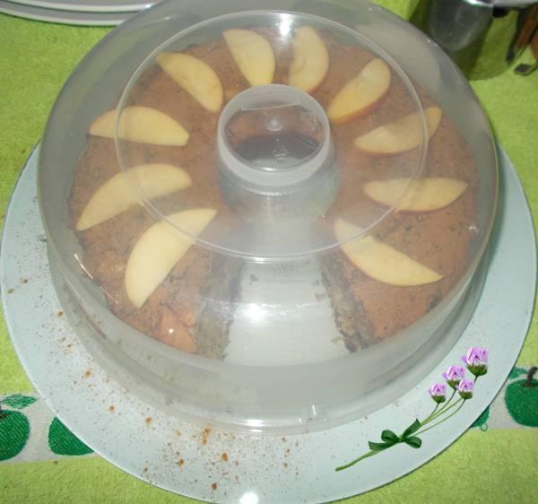 Bolo de aveia com maçã e ameixa