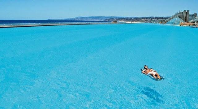 kolam renang terbesar di dunia di San Alfonso Del Mar, World's Largest Swimming Pool San Alfonso Del Mar, kolam renang buatan manusia air laut, San Alfonso Del Mar, kolam terbesar dan cantik di CHile, San Alfonsor Del Mar Chile,