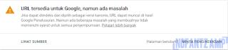 Mengatasi URL tersedia untuk Google, namun ada masalah
