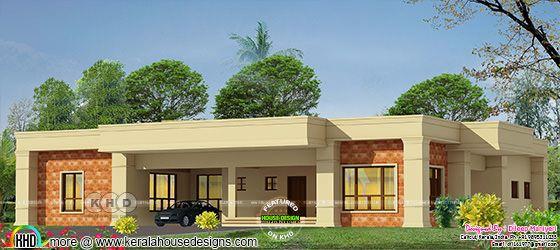 Arabian model mud color single floor house