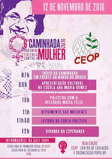 Caminhada da paz pelo fim da violência contra a mulher acontece neste sábado em Picuí