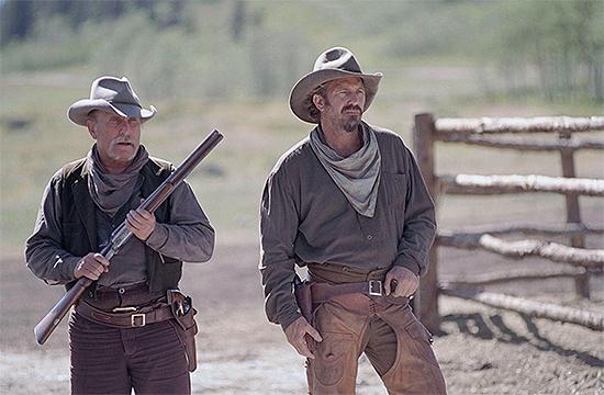 Robert Duvall y Kevin Costner en Open Range