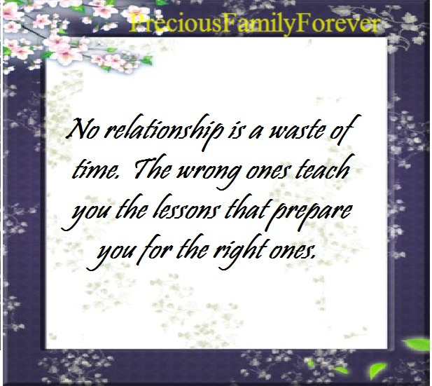 Precious Family: No Relationship Is A Waste Of Time