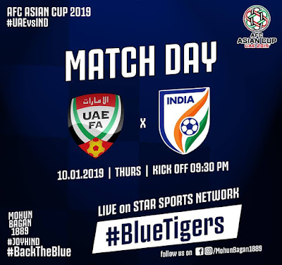 Live Streaming India vs UAE AFC 2019 (10.1.2019)