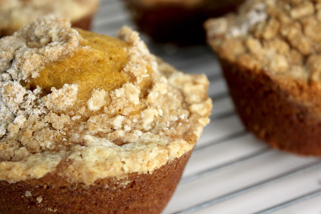 Recipe for Pumpkin Streusel Muffins by freshfromthe.com