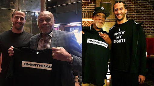 2017 - Colin Kaepernick with Tommie Smith and John Carlos