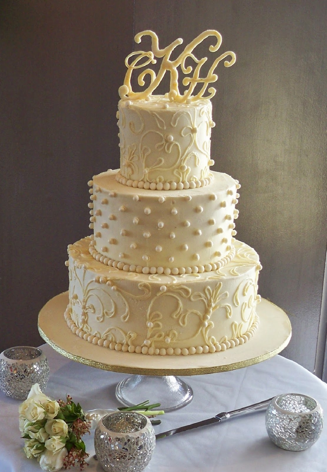 white ganache wedding cake white chocoalte ganache lace wedding cake elisabeth s 27287