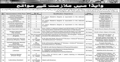 Water and Power Development Authority Wapda Jobs