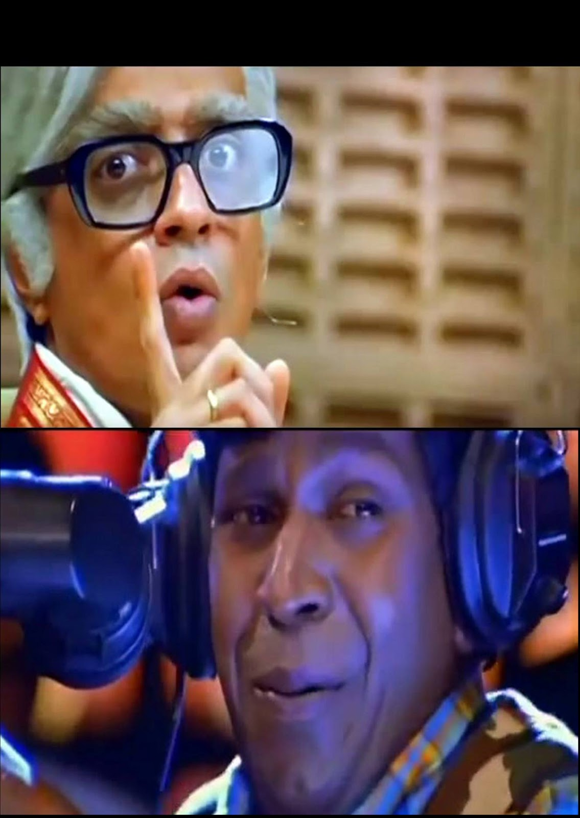 Muthalvan Vadivelu Laughing At Raghuvaran Wkb Meme Template