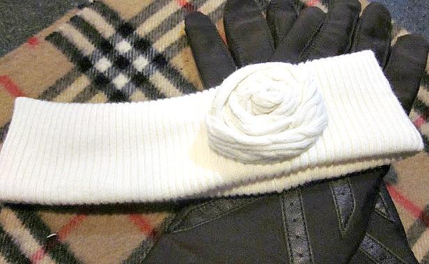 Headband made from sweater