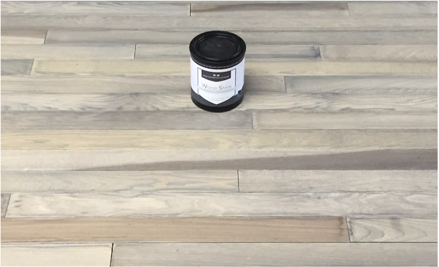 DIY Stain & Topcoat your Flooring tutorial with #Weatherwood