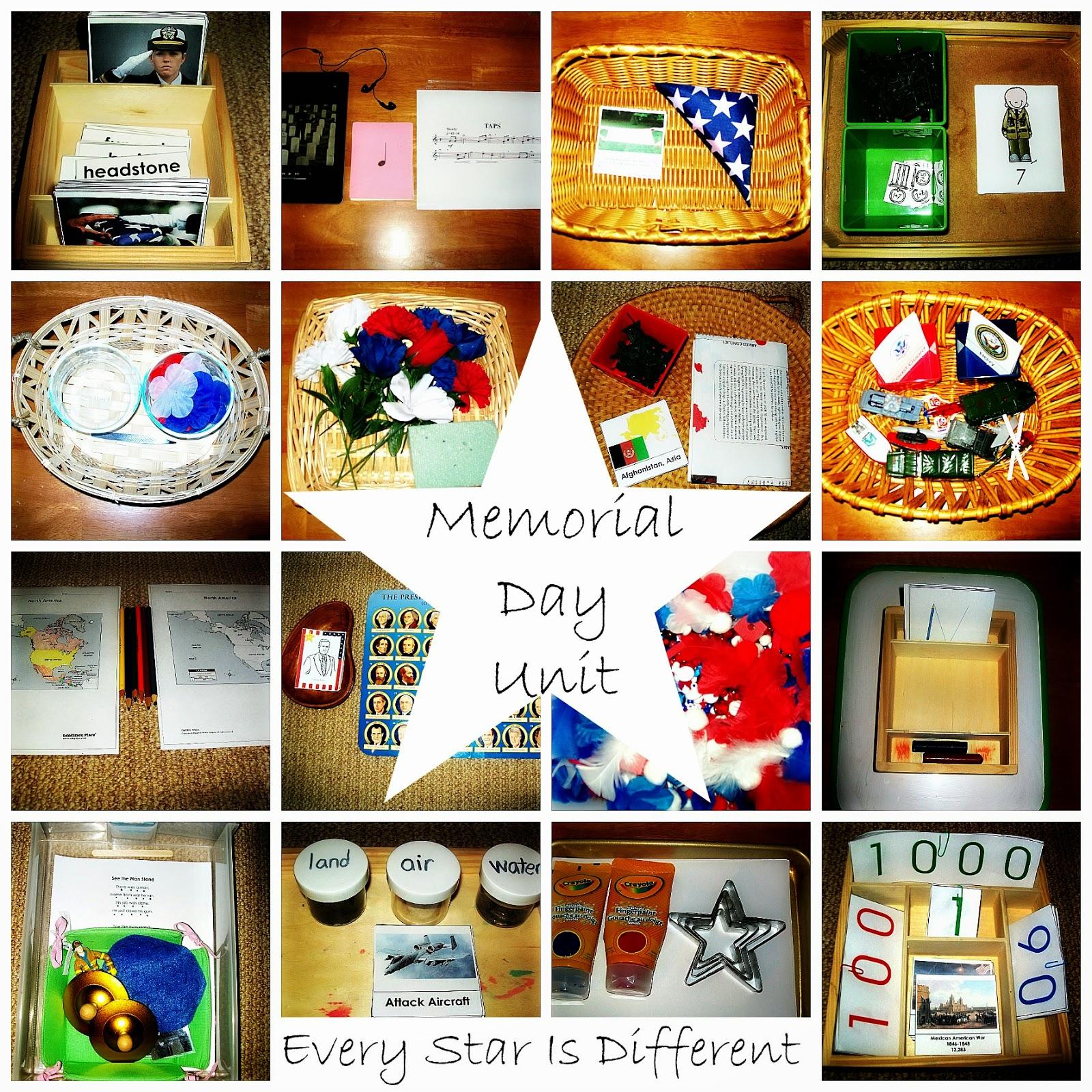 Memorial Day Unit 2 W Free Printables