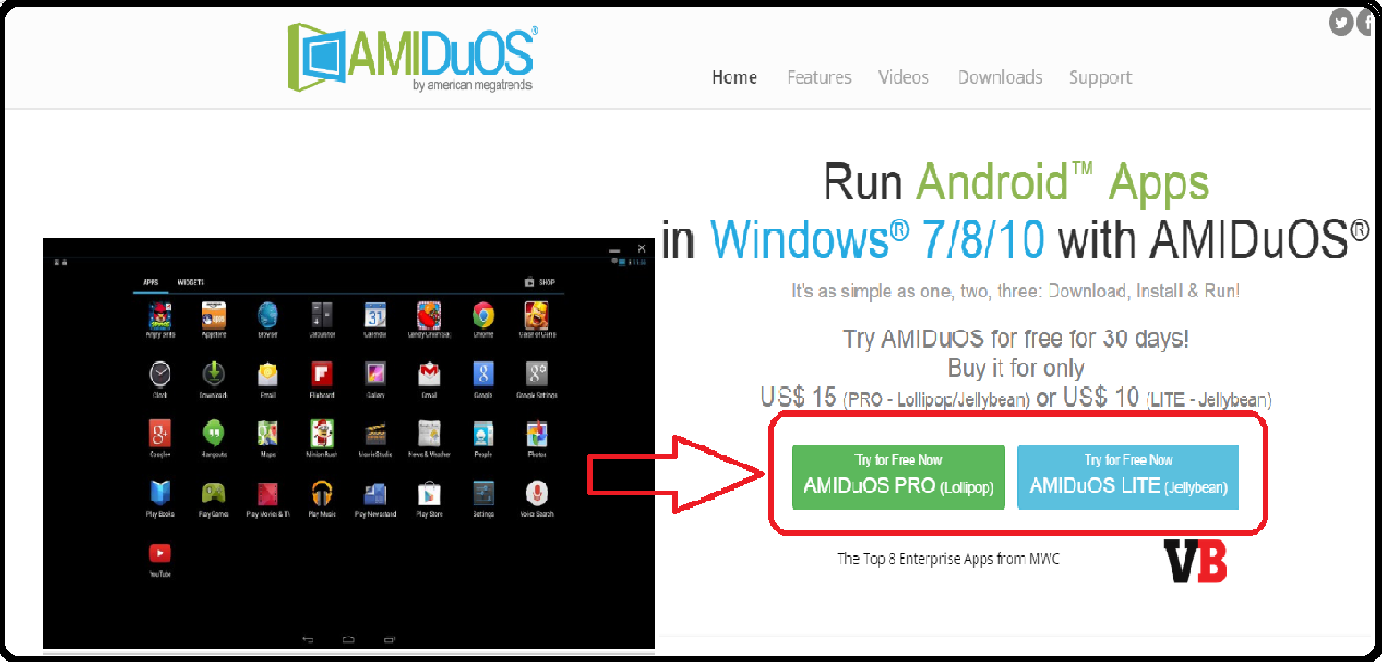 run android apps on pc download