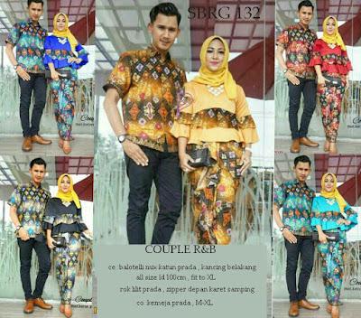 Batik Pasangan SBRG132 Couple Gamis Kebaya Modern