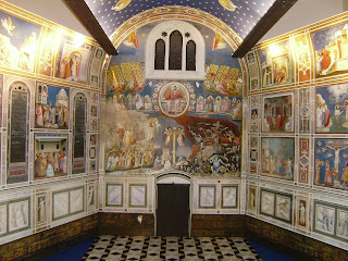 Giotto's beautiful frescoes adorn the walls of the  Scrovegni Chapel in Padua