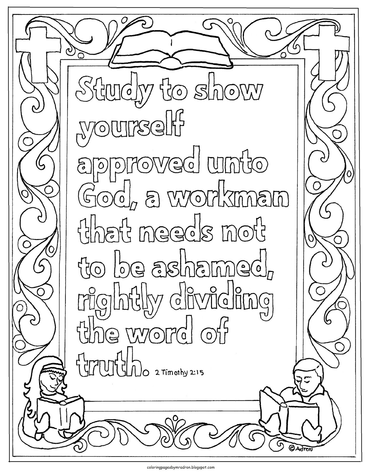 Coloring Pages For Kids By Mr Adron Printable 2 Timothy