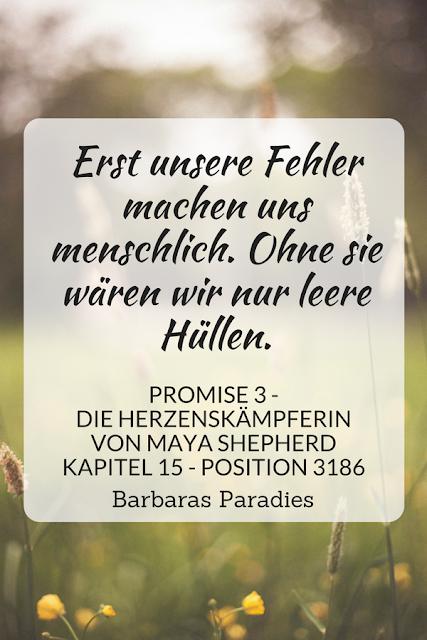 Buchrezension #202 Promise 3 - Die Herzenskämpferin von Maya Shepherd