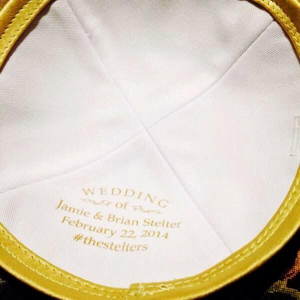Hashtag Wedding Kippah (Yarmulke)