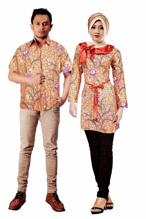 Gambar Foto Model Baju Batik Pasangan Couple Caption