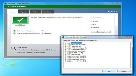 Microsoft security essentials screenshot 3